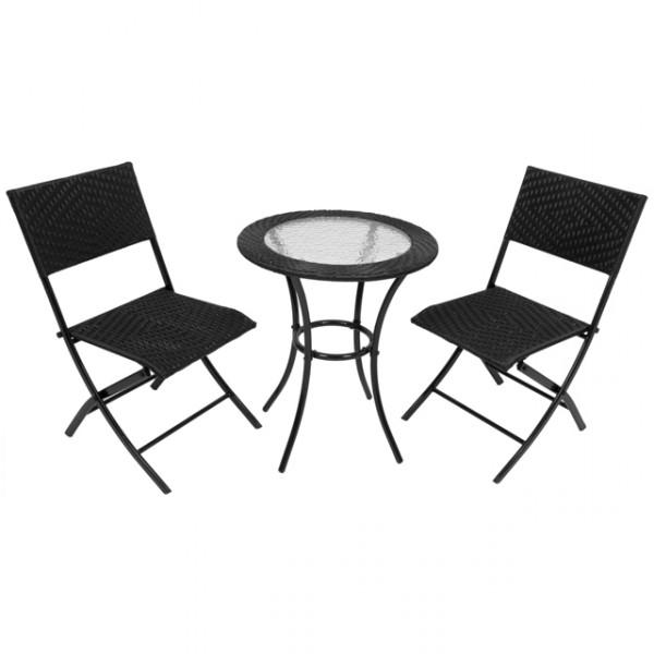 3 tlg polyrattan gartenm bel bistro set tula sitzgruppe balkonm bel sitzgarnitur haus und. Black Bedroom Furniture Sets. Home Design Ideas