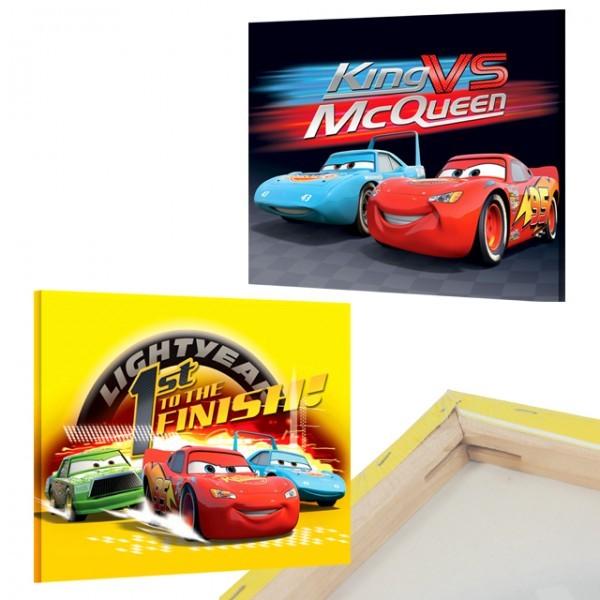 2er set disney cars bilder auf keilrahmen 40x30 - Kinderzimmer bilder set ...