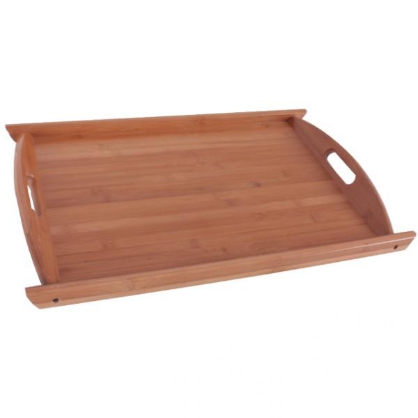 tablett mit griff holztablett 54x35 cm k chentablett aus holz k che und haushalt tisch und bar. Black Bedroom Furniture Sets. Home Design Ideas
