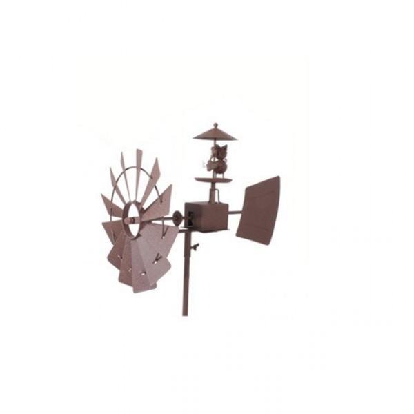 Gartendeko windm hle katze gartendekoration metall gartenstecker windspiel neu - Gartendekoration metall ...
