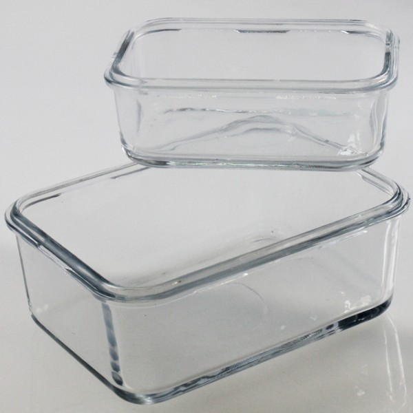 2er set glas frischhalte dose ohne deckel cuisine trend. Black Bedroom Furniture Sets. Home Design Ideas