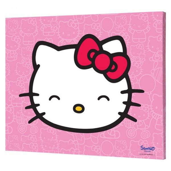 hello kitty bild auf keilrahmen 30x40 kinderzimmer bild q b ware baby und kind. Black Bedroom Furniture Sets. Home Design Ideas