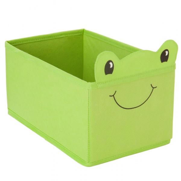 spielzeugbox mini spielzeugkiste faltbare aufbewahrungsbox gr n frosch truhe baby und kind. Black Bedroom Furniture Sets. Home Design Ideas