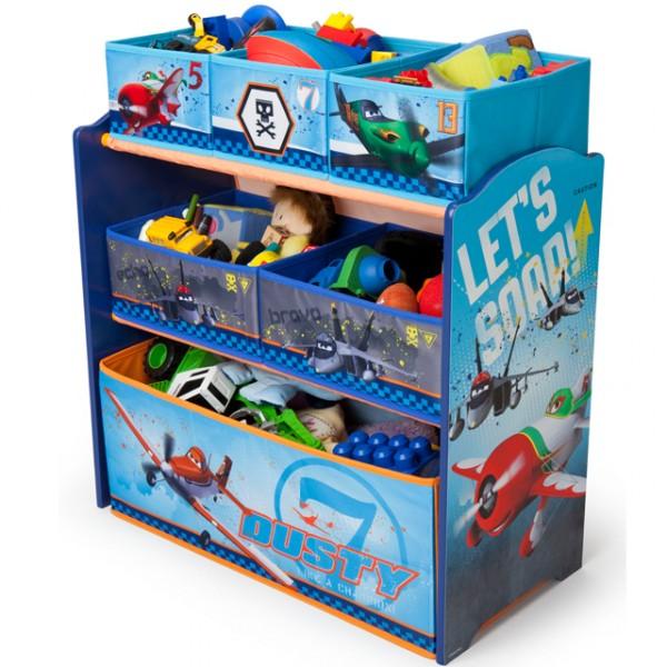 disney planes multi toy organizer f r spielzeug aus holz mit textilschubladen aufbewahrungsbox. Black Bedroom Furniture Sets. Home Design Ideas