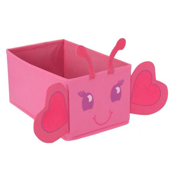 spielzeugbox mini spielzeugkiste faltbar aufbewahrungsbox schmetterling pink baby und kind. Black Bedroom Furniture Sets. Home Design Ideas