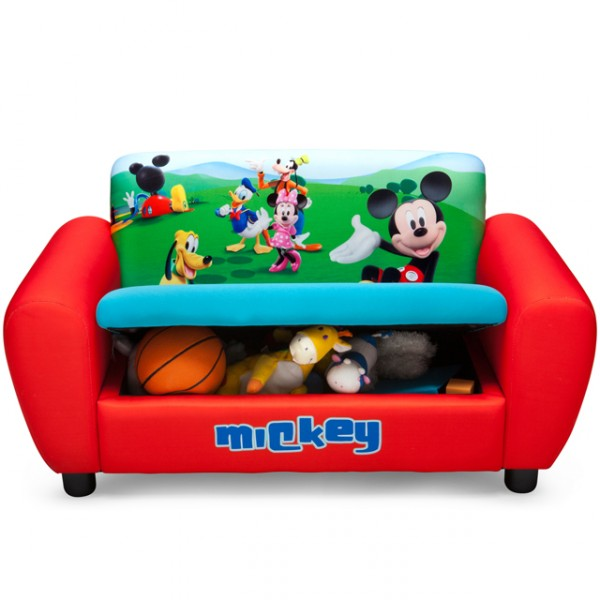 disney mickey mouse 2er sofa gepolstert rot aufklappbar sessel couch kindersofa baby und kind. Black Bedroom Furniture Sets. Home Design Ideas