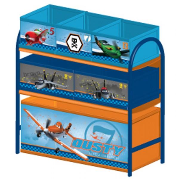 Multi toy organizer planes mit fächern und metallgestell