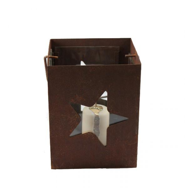 Windlicht stern teelichthalter metall weihnachten laterne for Windlicht rostoptik