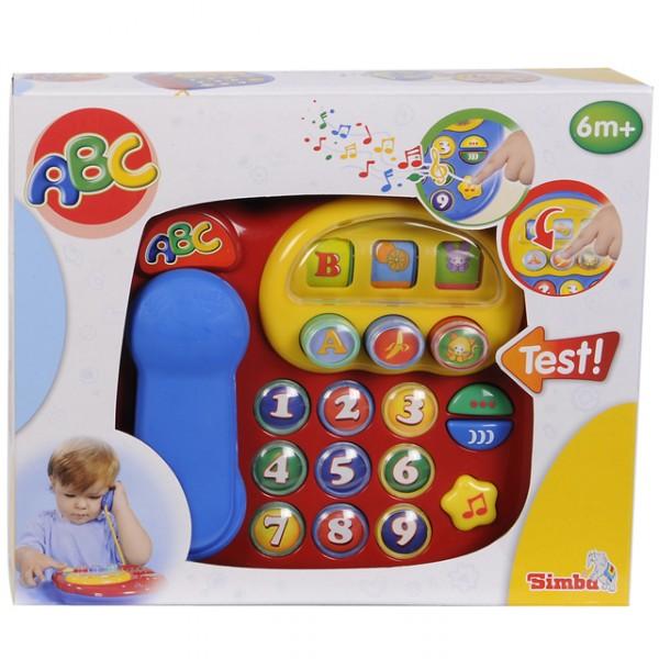 Simba baby abc telefon mit sound spieltelefon