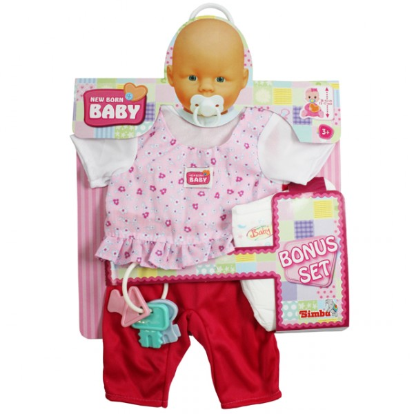 simba new born baby bonus pack kleidung puppenkleidung. Black Bedroom Furniture Sets. Home Design Ideas