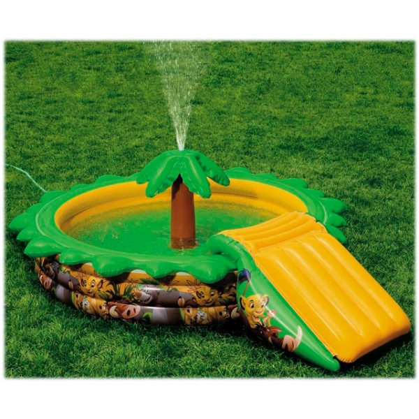 Intex kinderpool palme planschbecken in dschungeloptik for Gartenpool mit pumpe