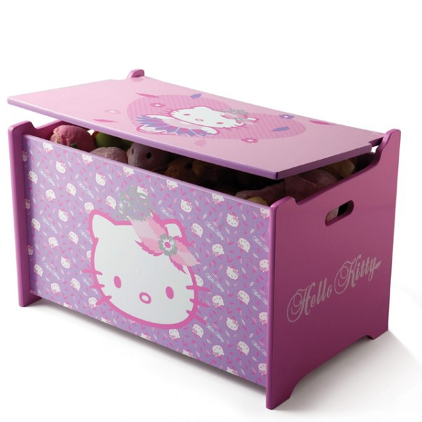 hello kitty toy box spielzeugkiste holz truhe f r spielzeug aufbewahrungsbox kinderzimmer baby. Black Bedroom Furniture Sets. Home Design Ideas