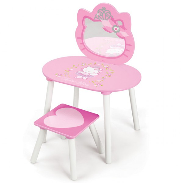 hello kitty schmink tisch spiegel frisiertisch kosmetik. Black Bedroom Furniture Sets. Home Design Ideas