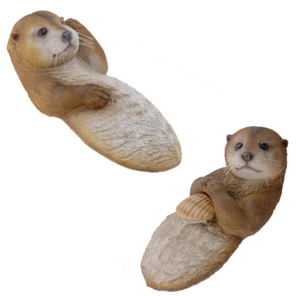 Schwimmtier otter teichfigur gartendekoration for Gartendekoration tiere