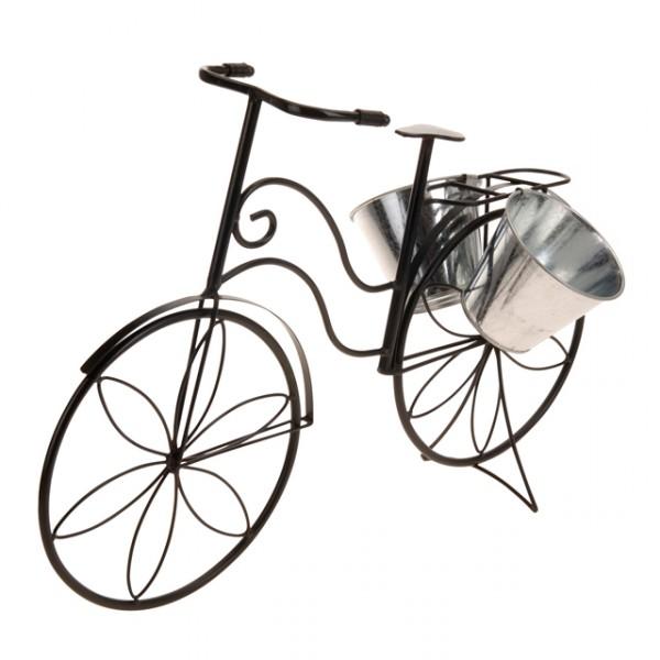 deko fahrradgestell mit pflanzeimer metall schwarz wei pflanzfahrrad deko blumen fahrrad m bel. Black Bedroom Furniture Sets. Home Design Ideas
