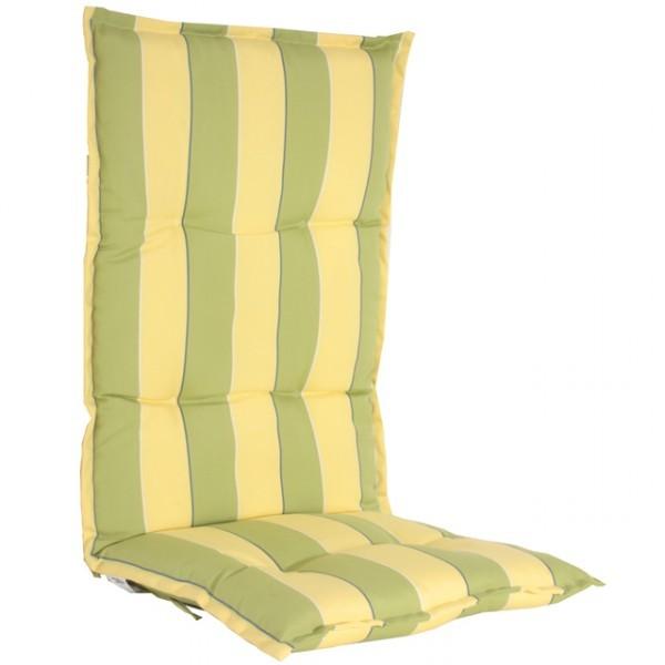 hochlehner auflagen 6cm kissen polster gartenstuhl gr n gelb haus und garten garteneinrichtung. Black Bedroom Furniture Sets. Home Design Ideas