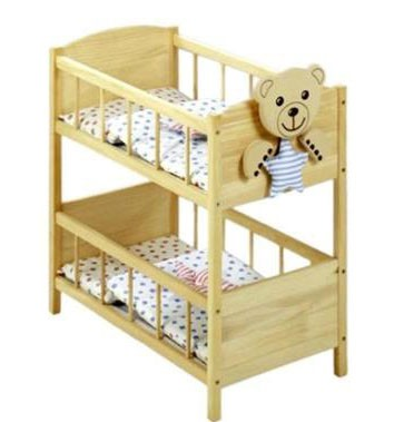 roba puppenbett woodyb r sternenf nger etagenbett puppen holz teddyb r motiv bettw sche neu. Black Bedroom Furniture Sets. Home Design Ideas