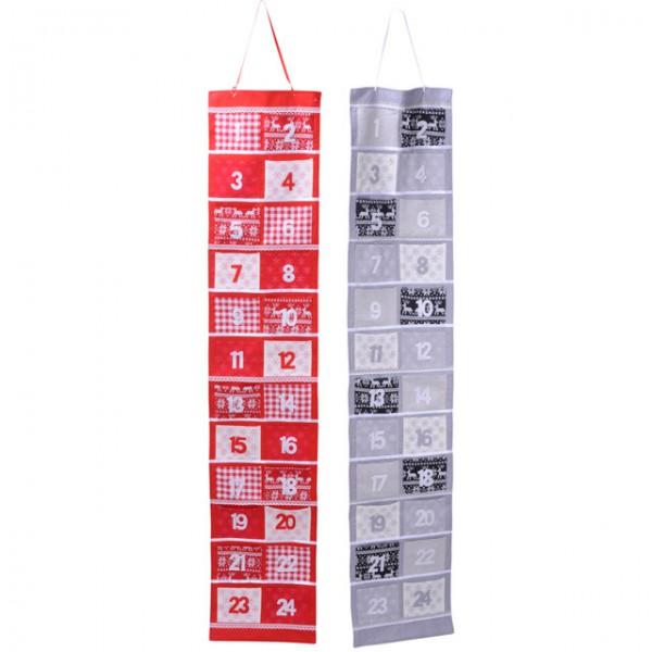 adventskalender filz 170 cm kalender weihnachten nikolaus zum bef llen wiederverwendbar stoff. Black Bedroom Furniture Sets. Home Design Ideas
