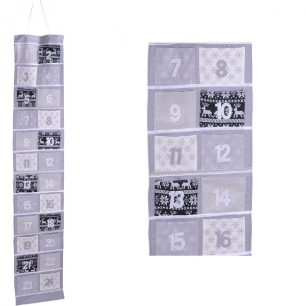 adventskalender filz 170 cm kalender weihnachten nikolaus. Black Bedroom Furniture Sets. Home Design Ideas