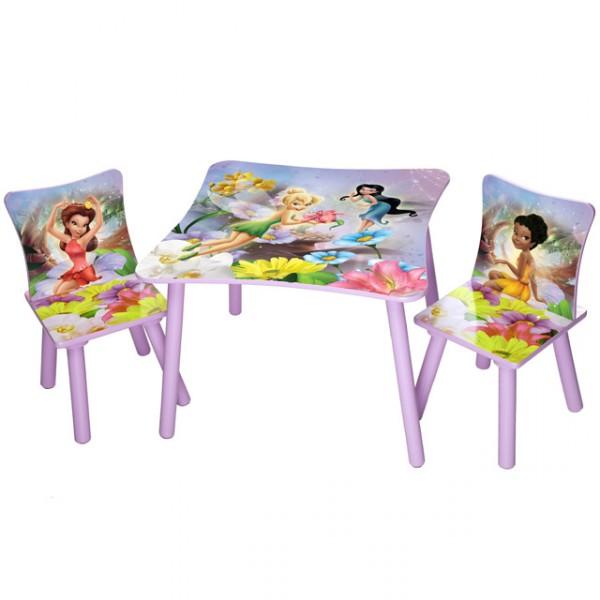disney kindersitzgruppe fairies tisch 2 st hle holz sitzgruppe maltisch spieltisch kinderm bel. Black Bedroom Furniture Sets. Home Design Ideas