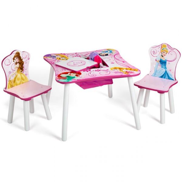 disney kindersitzgruppe princess tisch 2 st hle netz sitzgruppe aufbewahrung maltisch. Black Bedroom Furniture Sets. Home Design Ideas