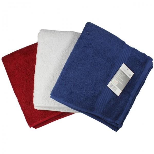 3er set handt cher 500 g m frottee handtuch blau wei rot duschtuch saunatuch 50x100 cm m bel. Black Bedroom Furniture Sets. Home Design Ideas