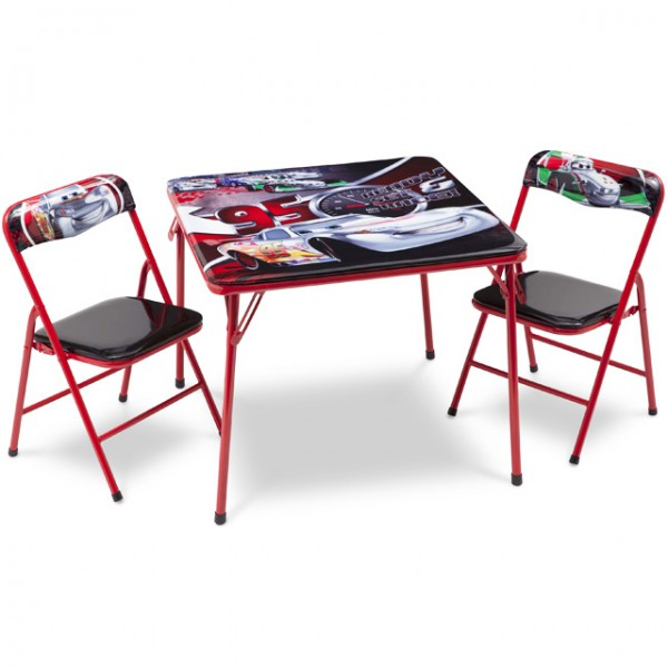 disney cars kindersitzgruppe sitzgruppe klapptisch klappstuhl kinderm bel tisch 2 st hle baby. Black Bedroom Furniture Sets. Home Design Ideas