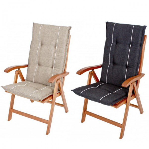 hochlehner gartenstuhlauflage hastings anthrazit creme beige polsterauflagen stuhl auflagen. Black Bedroom Furniture Sets. Home Design Ideas