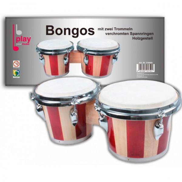 Bongos mit zwei trommeln verchromte spannringe holzgestell for Badezimmer 94 spiel