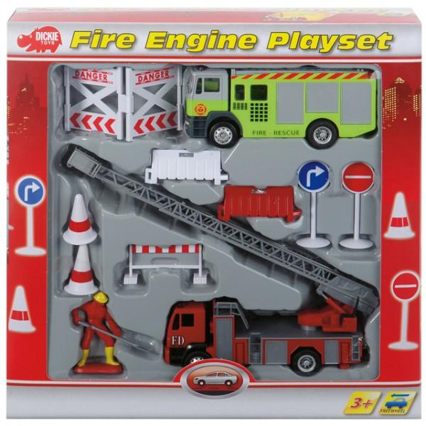 Dickie fire engine play set feuerwehrset feuerwehr modell for Badezimmer 94 spiel