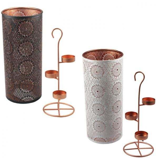 teelichthalter f r 3 teelichter oriental kerzenhalter windlicht kerzenst nder schwarz wei m bel. Black Bedroom Furniture Sets. Home Design Ideas