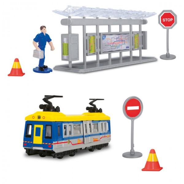 Dickie tram station straßenbahn spielzeug zug bus bahn