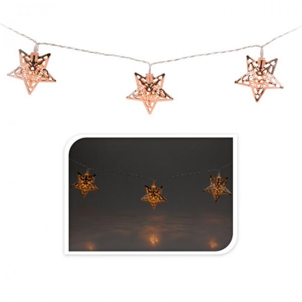 lichterkette 10 led stern weihnachten beleuchtung winter. Black Bedroom Furniture Sets. Home Design Ideas