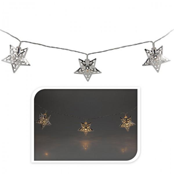 Lichterkette 10 led stern weihnachten beleuchtung winter for Rosegold deko