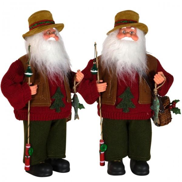 Weihnachtsmann aiko 30 cm mit hut fisch angel santa claus for Dekoration nikolaus