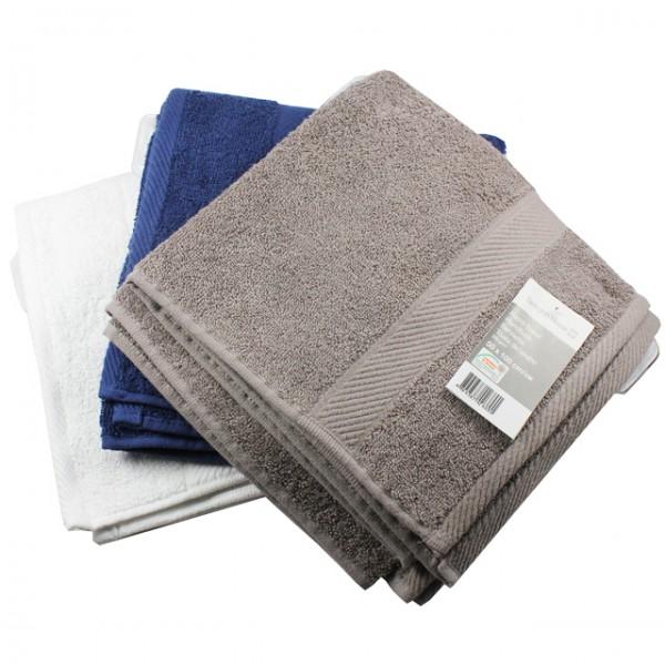 3er set frottee handtuch grau wei blau 50x100cm. Black Bedroom Furniture Sets. Home Design Ideas