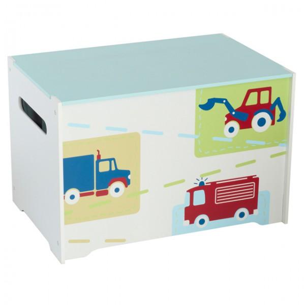 spielzeugbox mit griff aus holz fahrzeug feuerwehr kiste. Black Bedroom Furniture Sets. Home Design Ideas