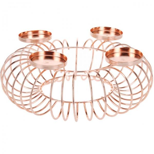 kerzenhalter metall schwarz silberfarben rosegoldfarben adventskranz weihnachten ebay. Black Bedroom Furniture Sets. Home Design Ideas