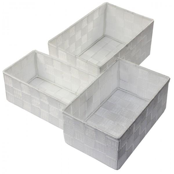 Aufbewahrungsbox 3er Set Geflochten Rechteckig Badezimmer Box Korb ... Korb Badezimmer
