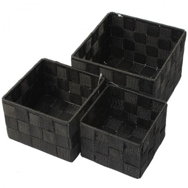 aufbewahrungsbox 3er set quadratisch geflochten korb box, Badezimmer ideen