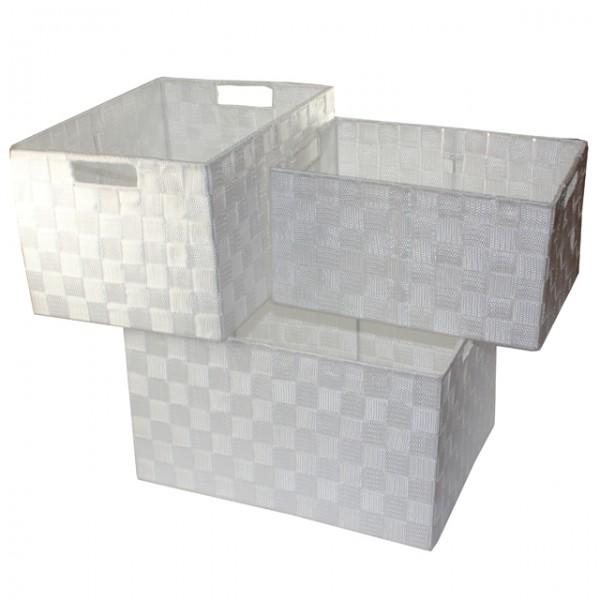 Xxl Aufbewahrungsbox 3er Set Badezimmer Kiste Korb Geflochten ... Korb Badezimmer