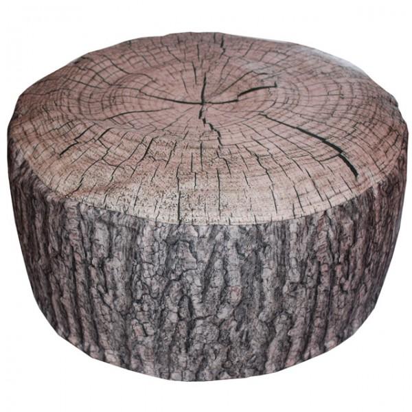 outdoor pouf eiche oder fichte baumstamm aufblasbares sitzkissen rinde 55x25 cm ebay. Black Bedroom Furniture Sets. Home Design Ideas