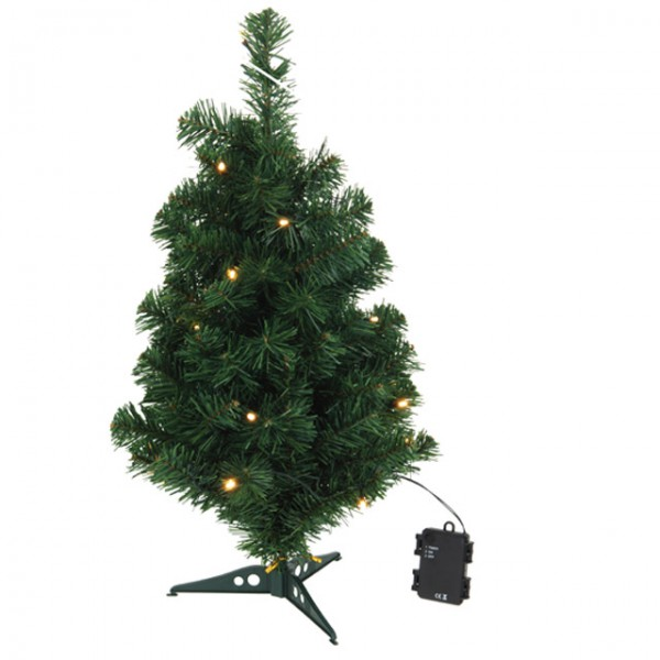 Weihnachtsbaum 60cm mit led und timer deko for Weihnachtsbeleuchtung mit batterie und timer