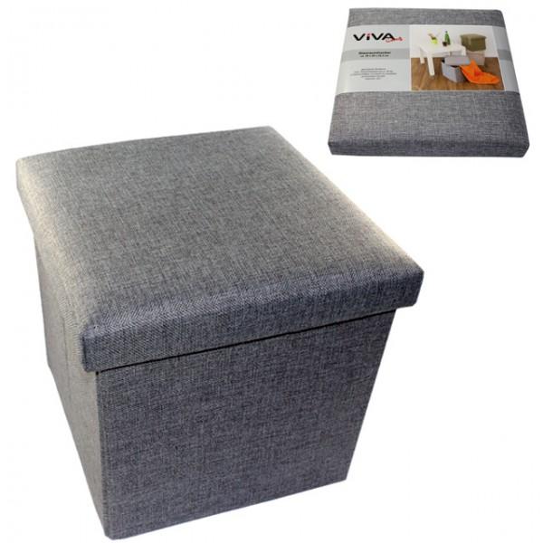 faltbarer sitzhocker stauraum 20 l aufbewahrungsbox. Black Bedroom Furniture Sets. Home Design Ideas