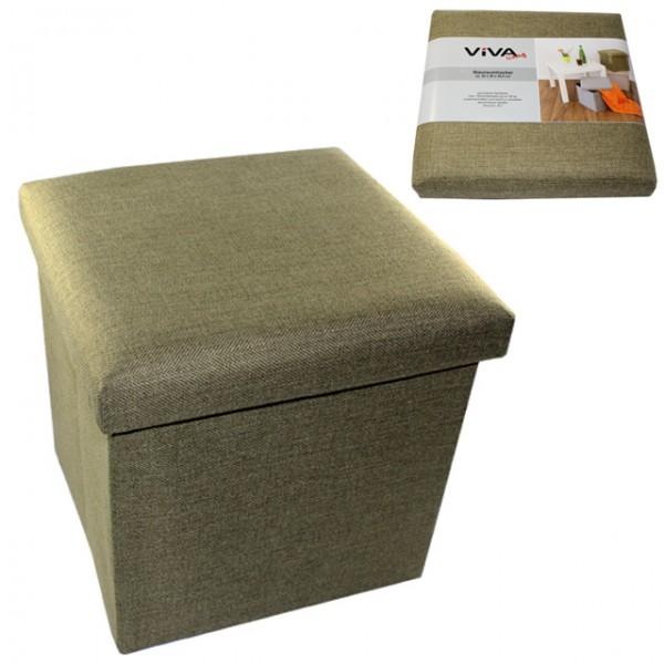 faltbarer sitzhocker 20 liter aufbewahrungsbox zum sitzen sitzw rfel fu hocker ebay. Black Bedroom Furniture Sets. Home Design Ideas