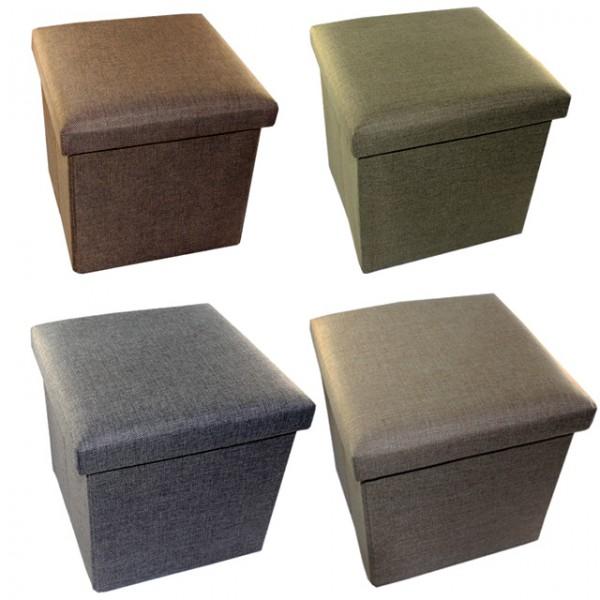 faltbarer sitzhocker mit stauraum 20 liter aufbewahrungsbox sitzw rfel polsterhocker fu hocker. Black Bedroom Furniture Sets. Home Design Ideas
