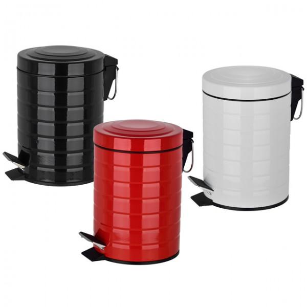 tretm lleimer 3 liter kosmetikeimer mit tretmechanik 3 farben abfalleimer badezimmer k che und. Black Bedroom Furniture Sets. Home Design Ideas