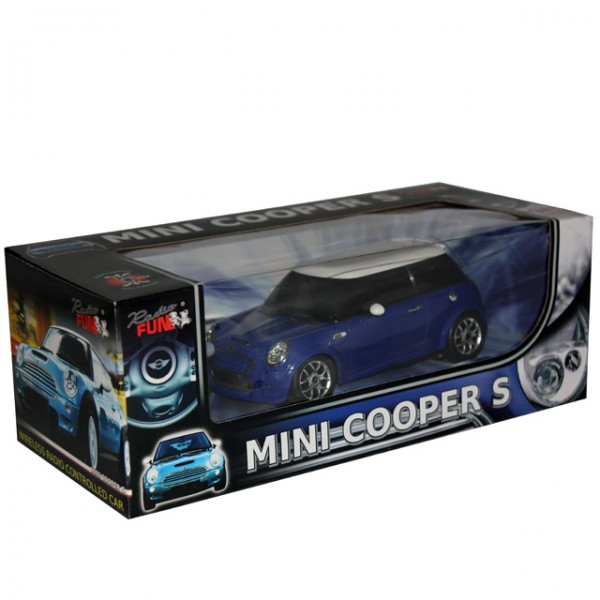 modellauto mini cooper rot blau 1 24 ferngesteuert rc. Black Bedroom Furniture Sets. Home Design Ideas