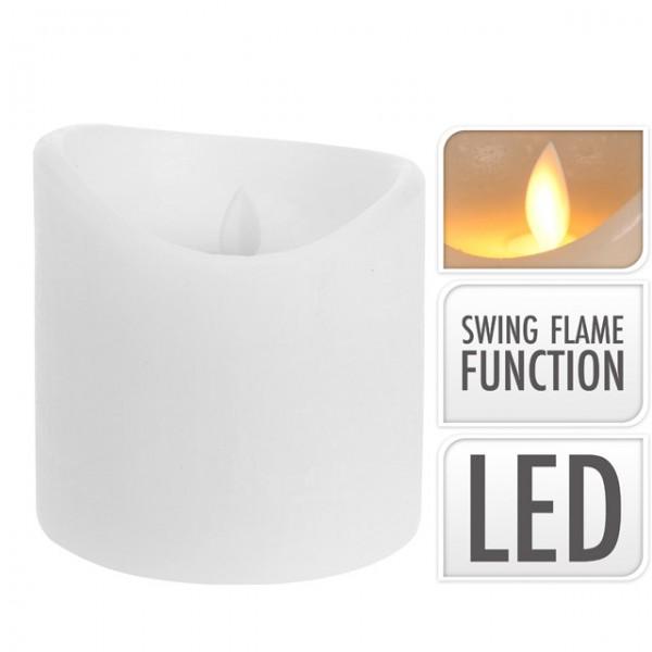 led kerze 10x10 cm flackernd weiss mit timer funktion wachskerze weihnachten 8711295778513 ebay. Black Bedroom Furniture Sets. Home Design Ideas