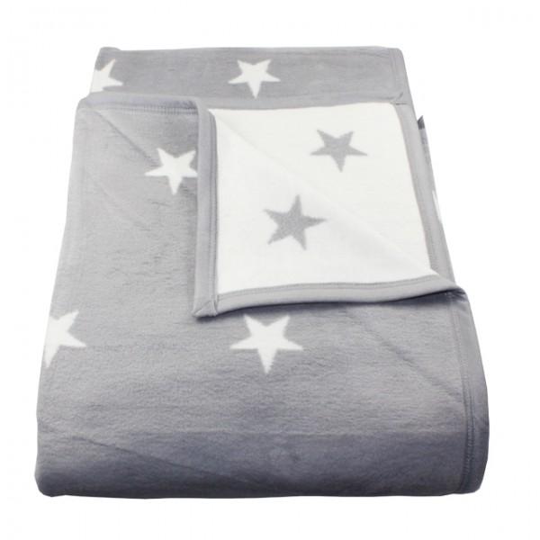 wohndecke stars mit einfassband 150 x 200 cm sterne 58 baumwolle kuscheldecke m bel wohnen und. Black Bedroom Furniture Sets. Home Design Ideas